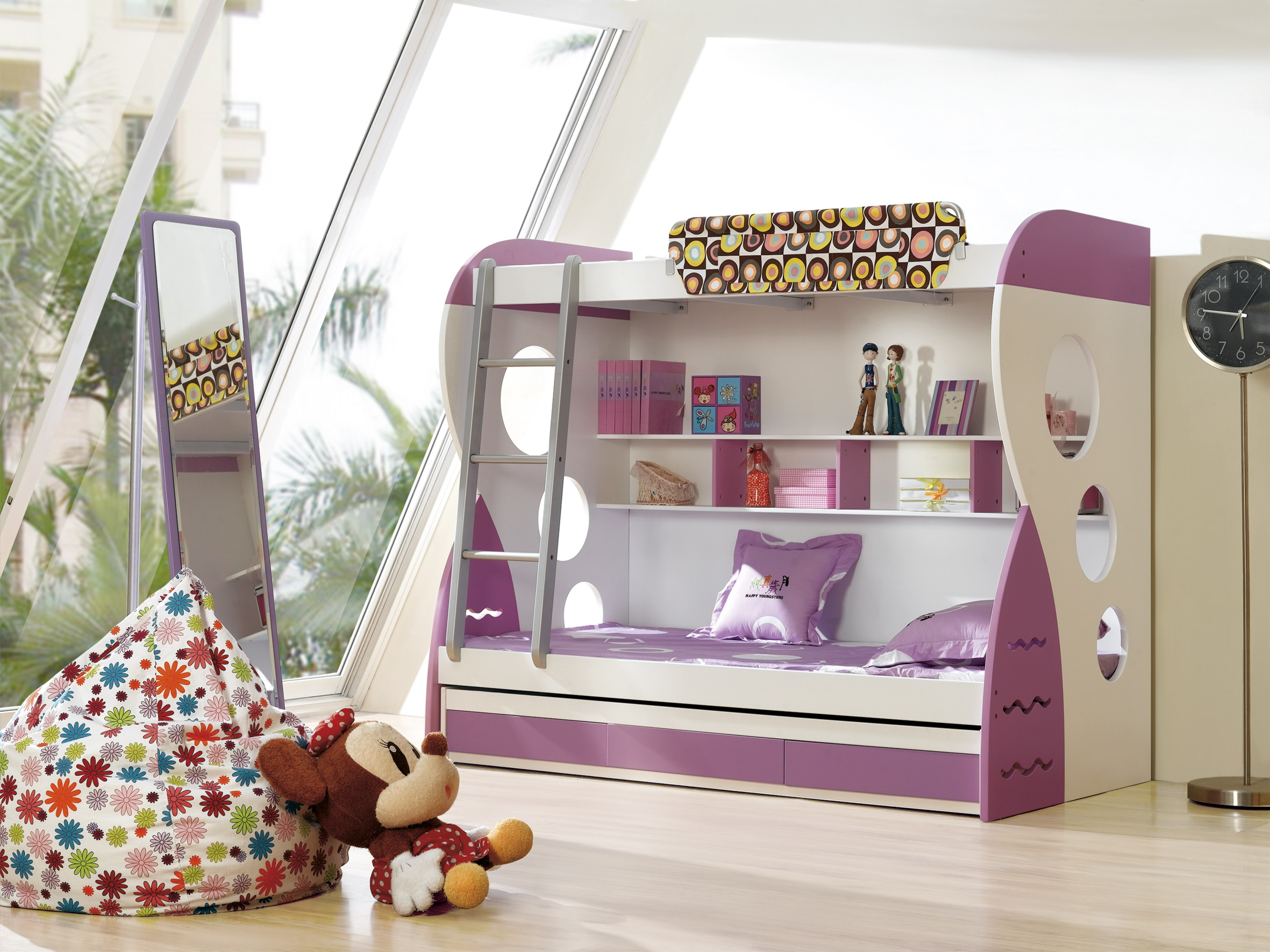 Amazingly Cool purple Loft Beds For Teens with desk mini chamber imperative