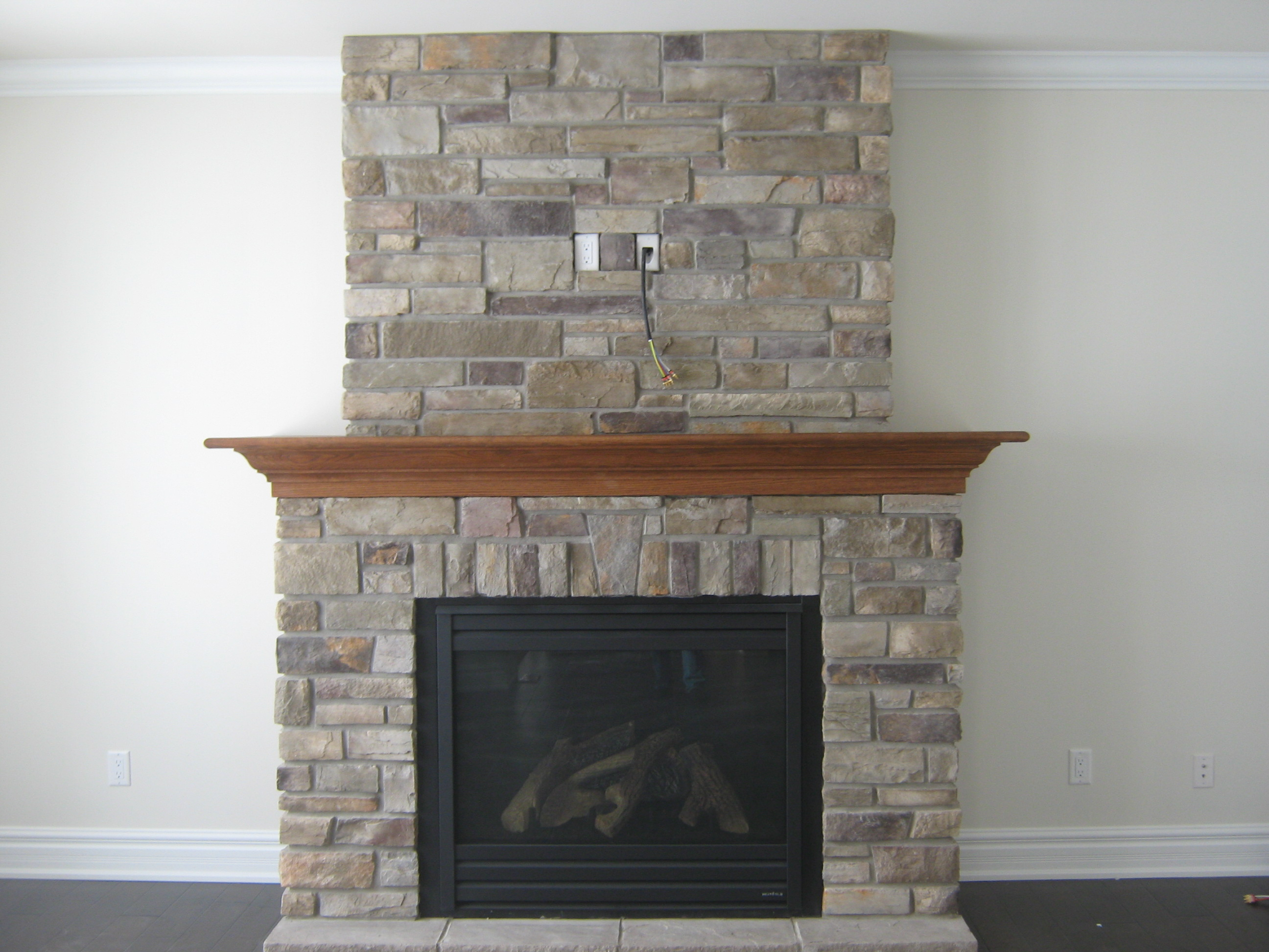 Architecture Fireplace Stone veneer panels Wall Decoration Ideas For Modern home ideas