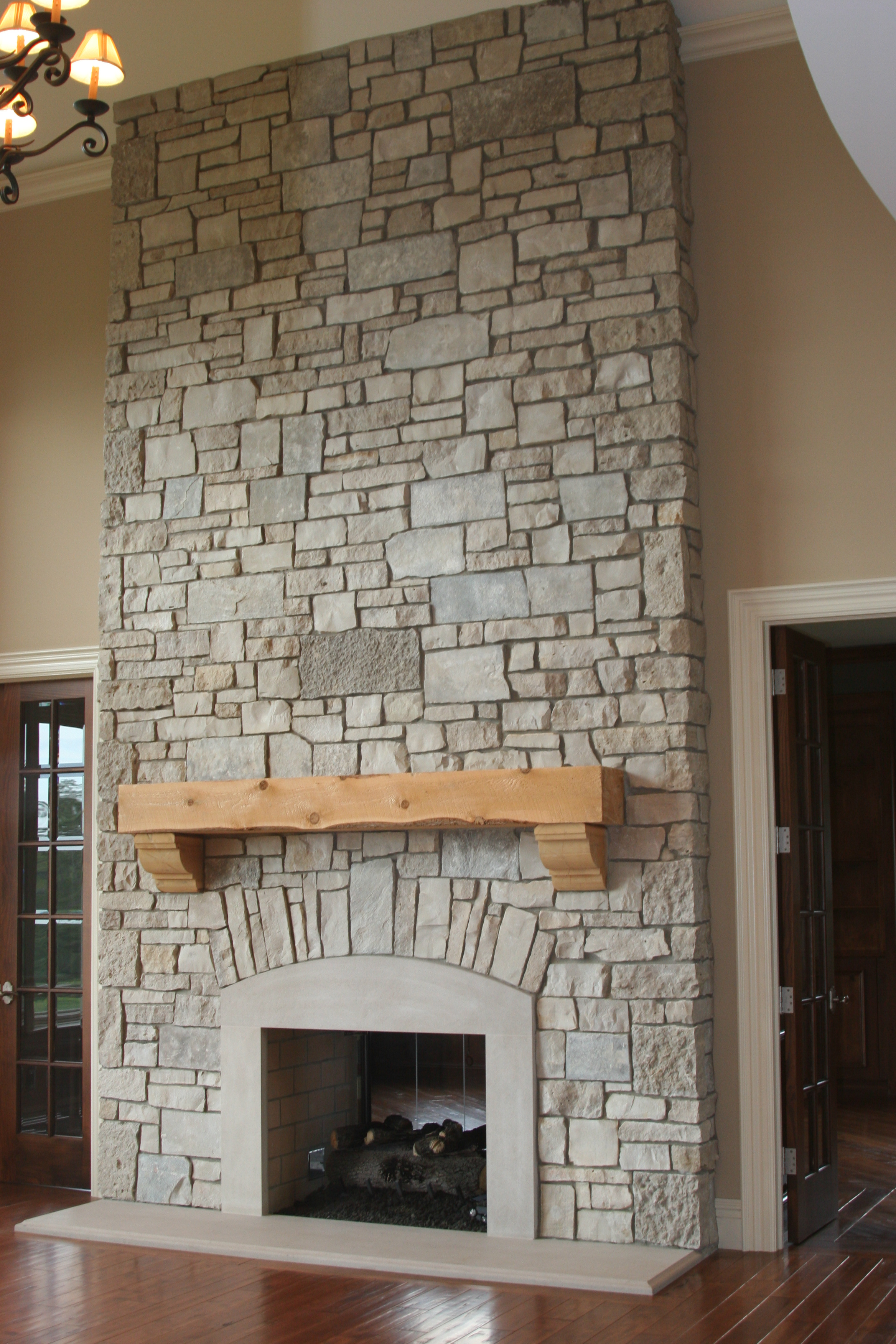 Exterior Design: Architecture Fireplace Stone Wall Decoration ...