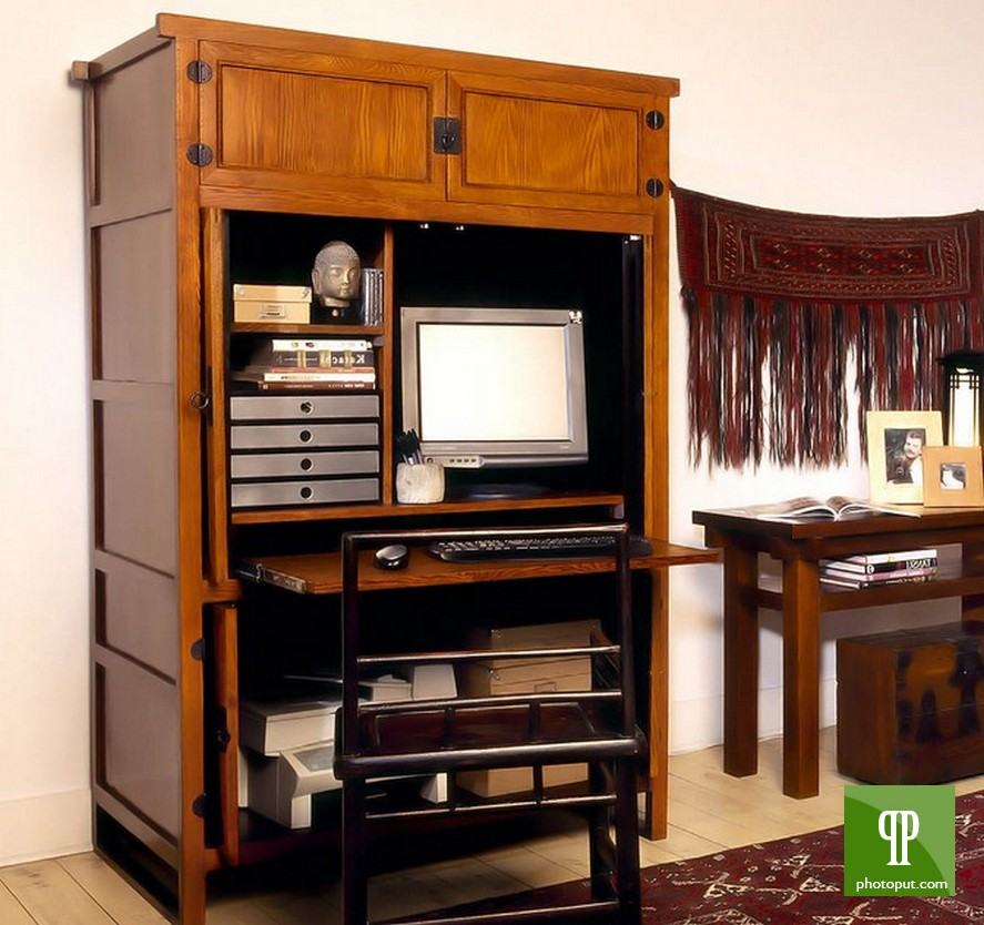 Area Rugs Inspiring Wooden Computer Armoire With Cabinets Shelves