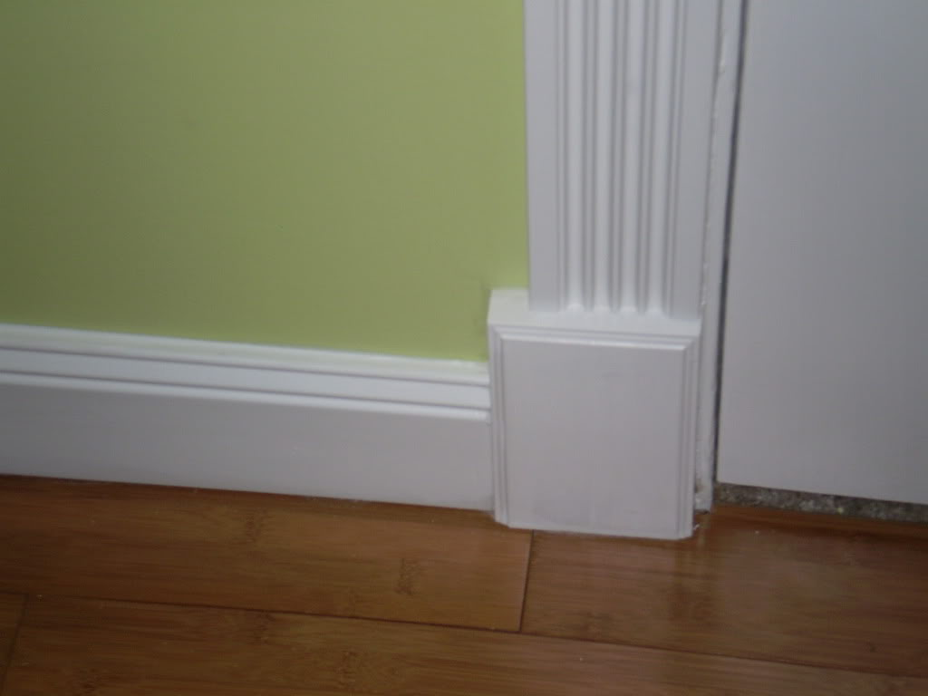 Awesome Baseboard Molding With Softgreen Wall And Peru Floor