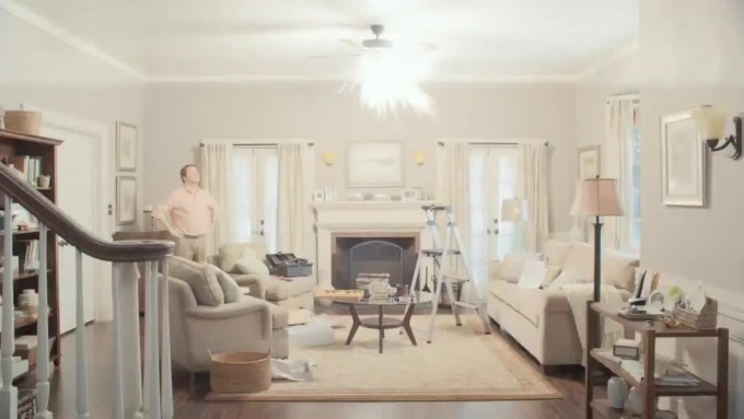 Awesome Lowes Ceiling Fans With Lamp On Family Room With Fireplace And Sofa Set Plus Carpet For Home Decor Ideas