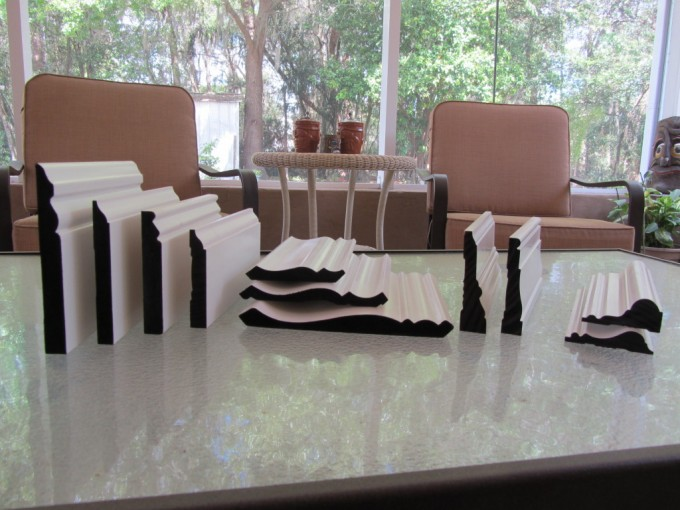 Baseboard Molding Choises On Ceramics Table