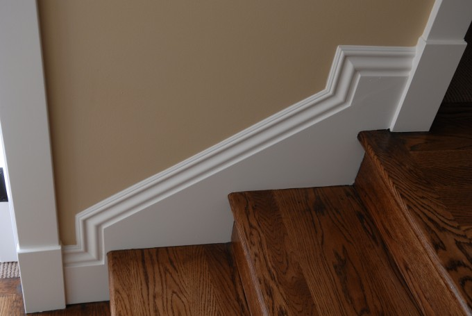 Baseboard Molding For Stairs Area