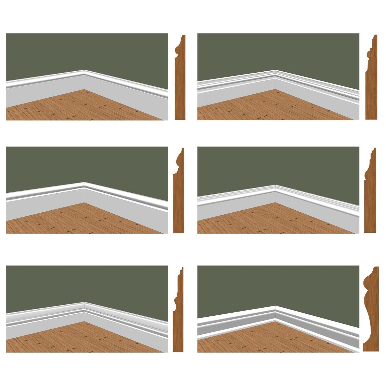 baseboard molding with olive wall and wooden floor ideas