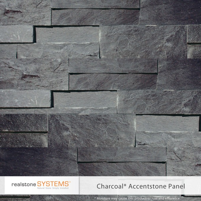 Charcoal Accent Stone Veneer Panels For Wall Ideas