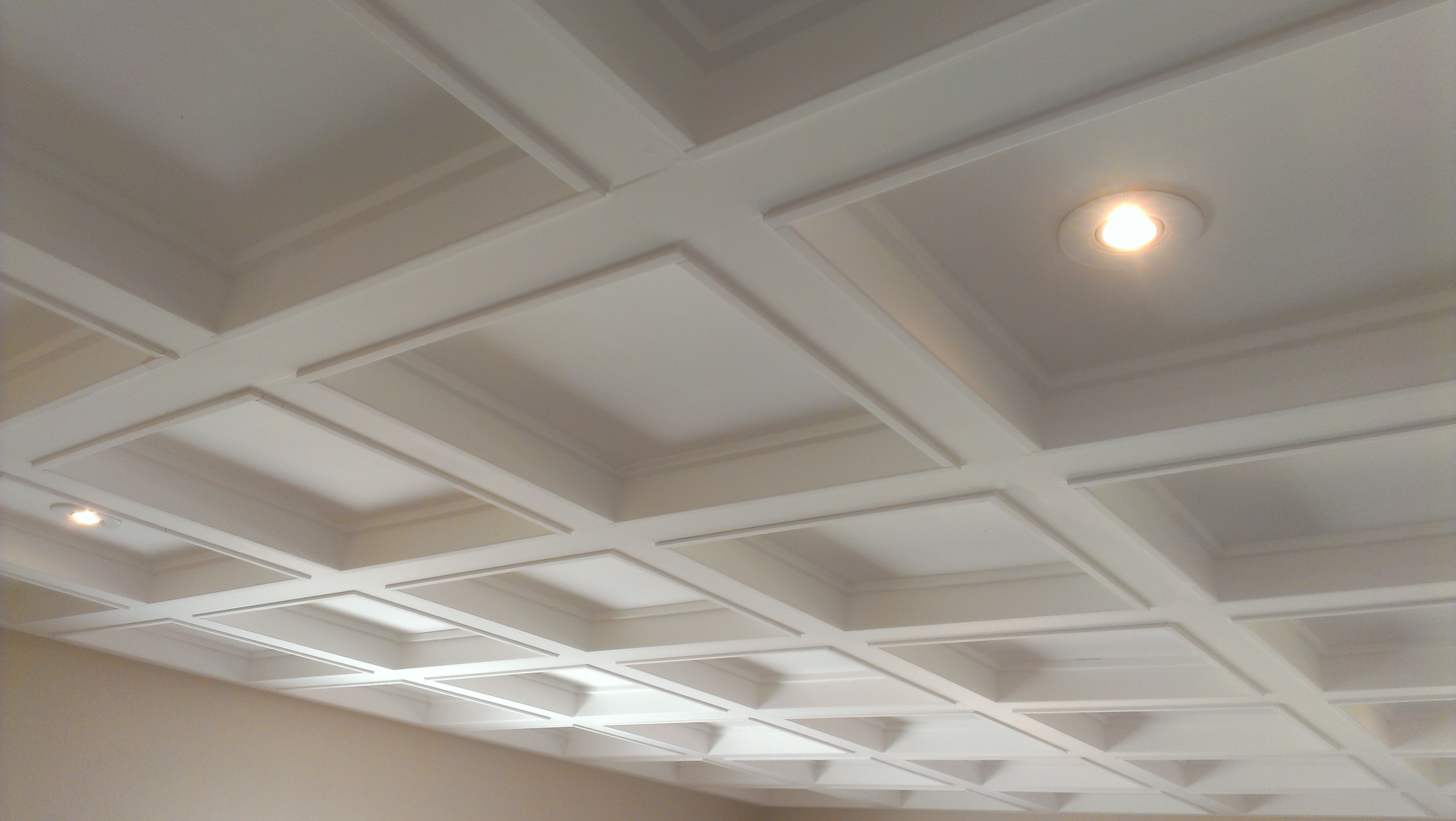 charming Coffered Ceiling plus light for more beautiful ceiling ideas
