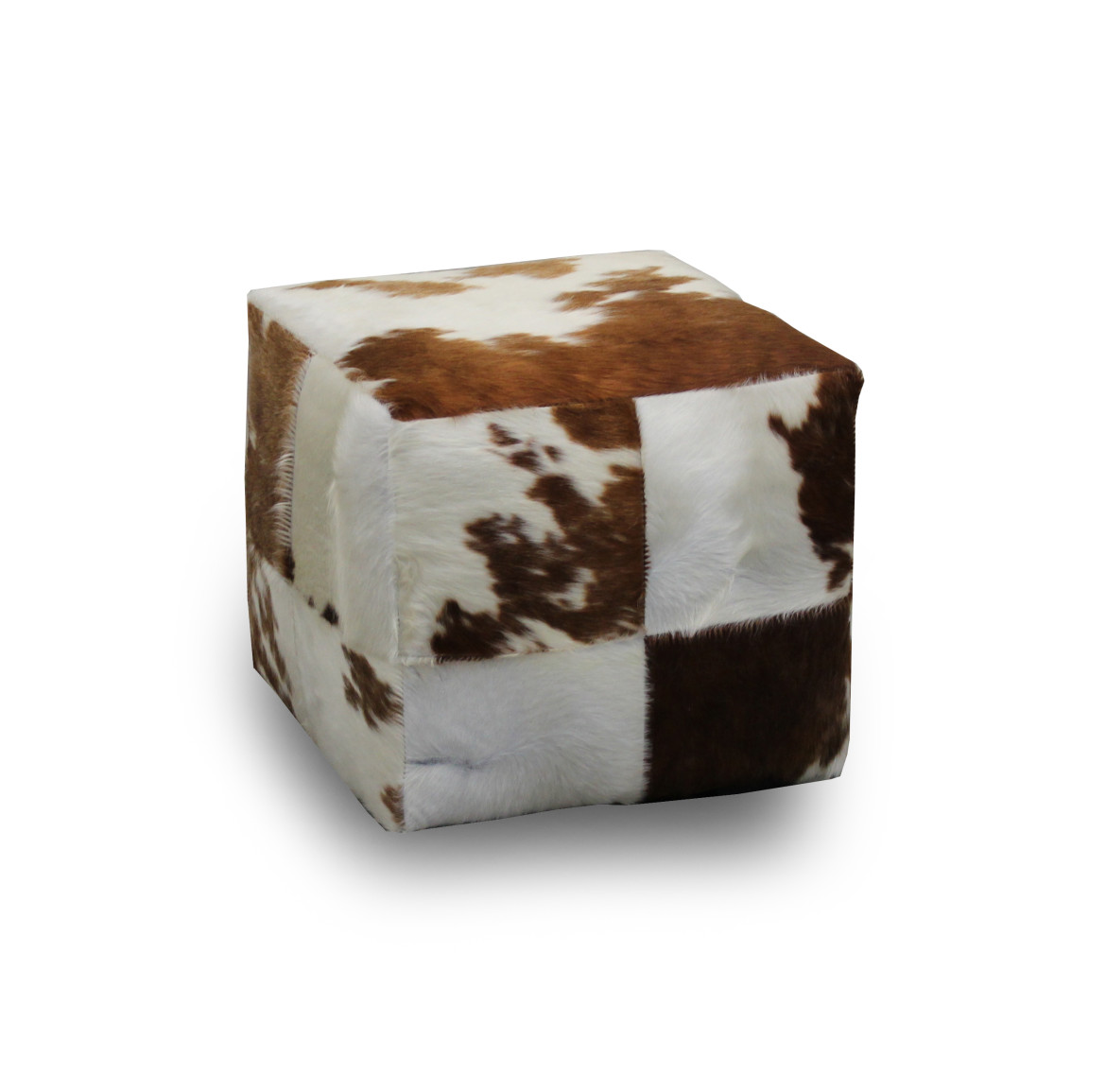 classic cube Cowhide Ottoman for corner of room