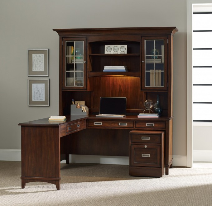 Classy Exceptional Corner Computer Armoire Along With Glass File