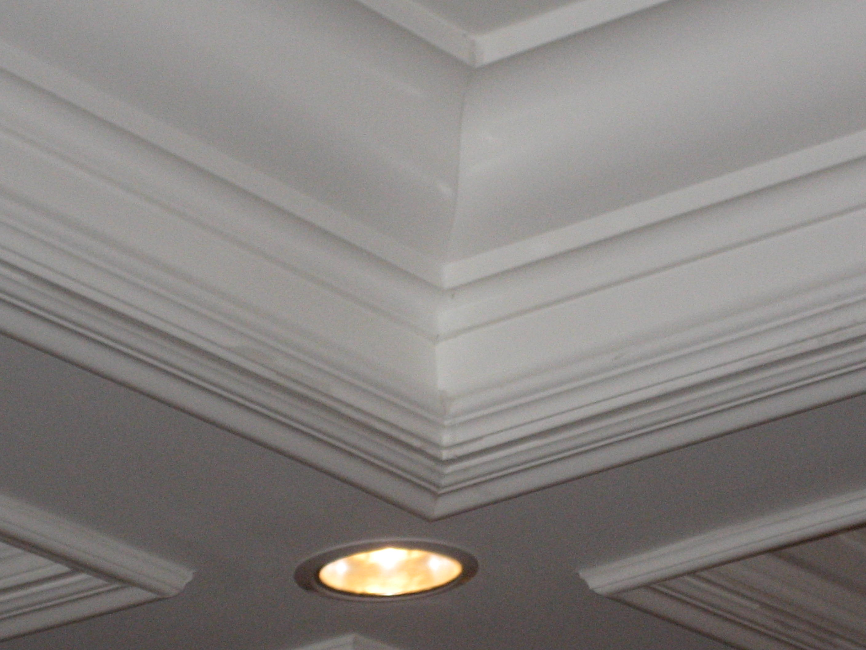 Coffered ceiling Close up with lights