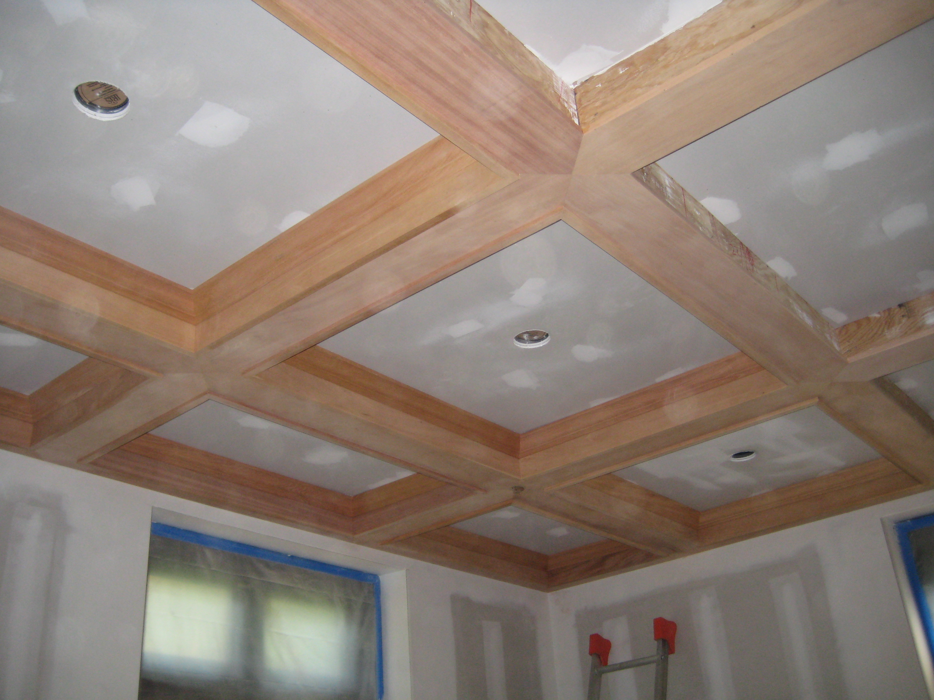 Coffered Ceiling in progress for the new room