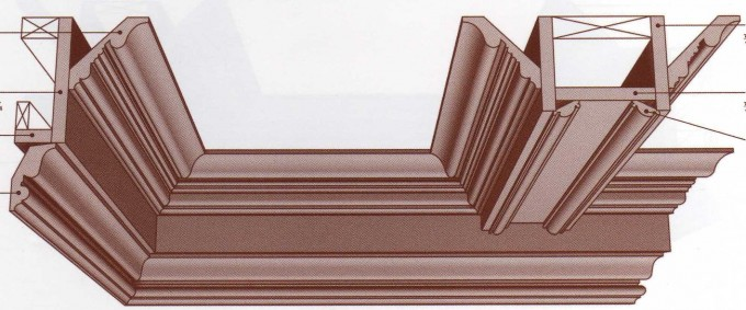Coffered Ceiling Wainscoting, Crown Molding, BaseBoards
