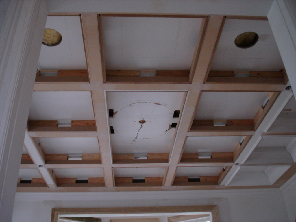 How to build a coffered ceiling - Coffered Ceilings In Progress
