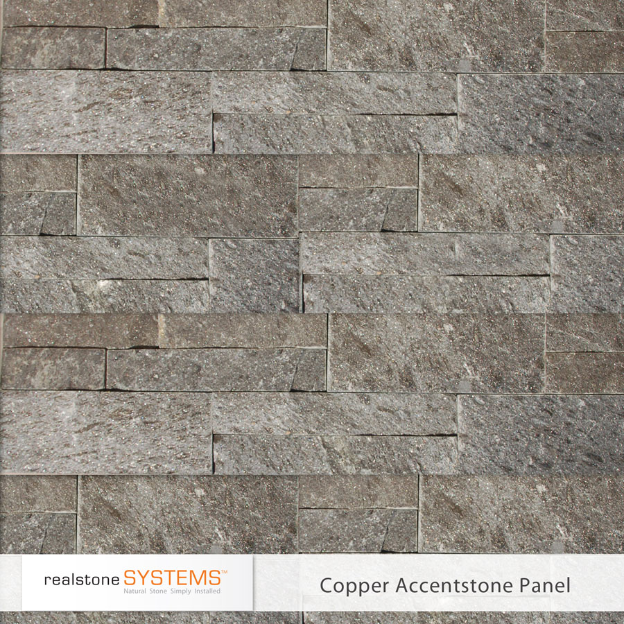 Copper Accent stone Veneer panels for home interior or exterior decor ideas