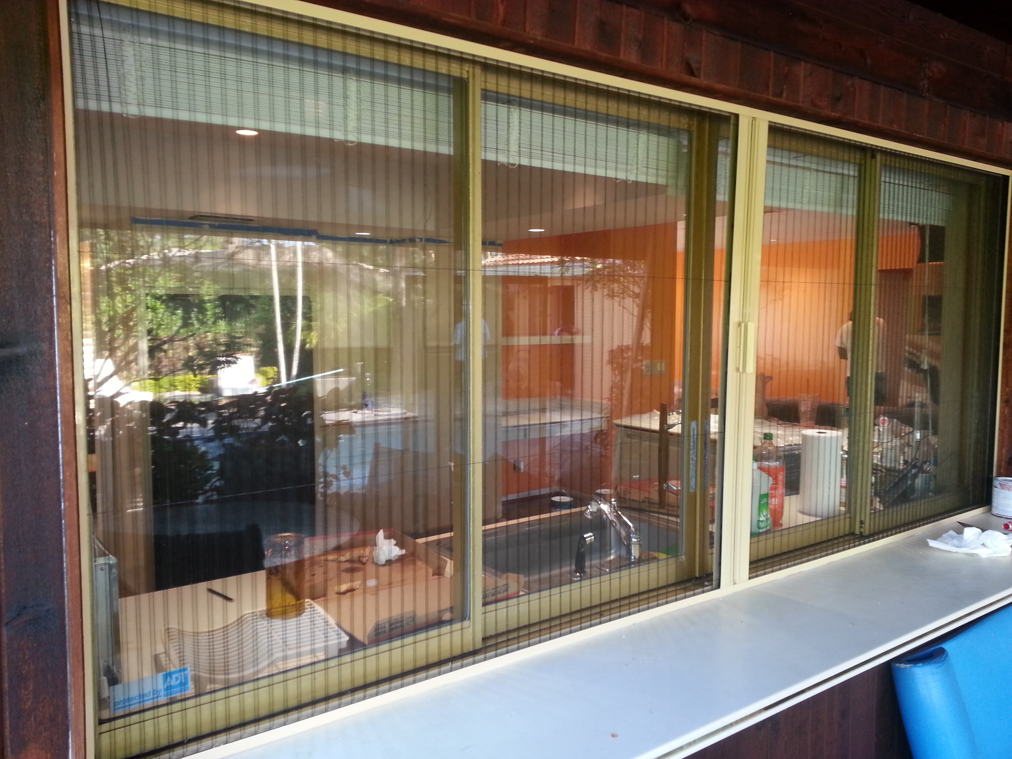 double Retractable Screen Doors with horizontal slider style