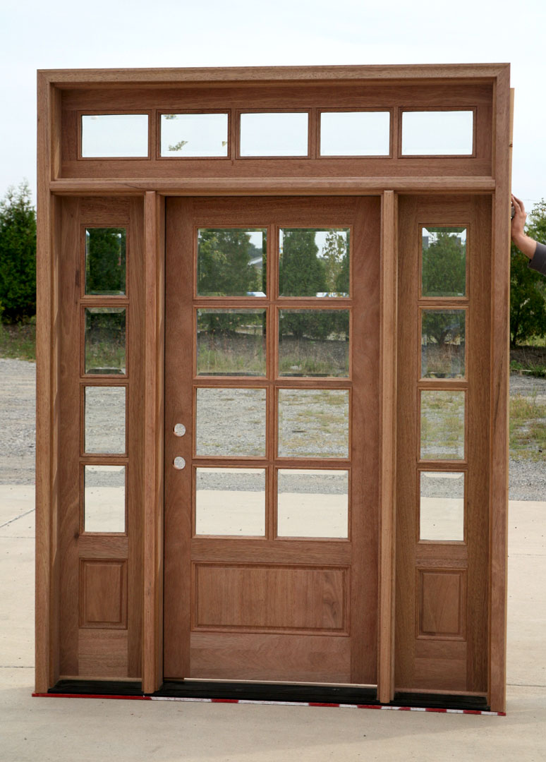 entry door with sidelights that not finish yet