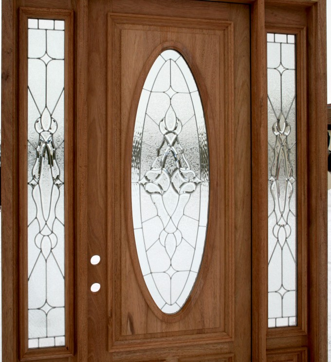 Entry Door With Sidelights Without Handle That In Progress
