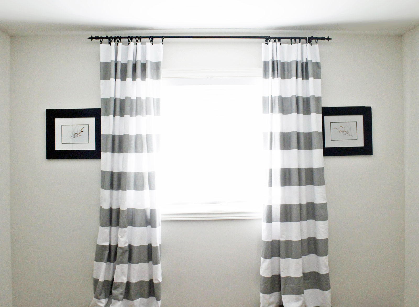 Fabulous Horizontal Striped Curtains Home Interior Design Ideas