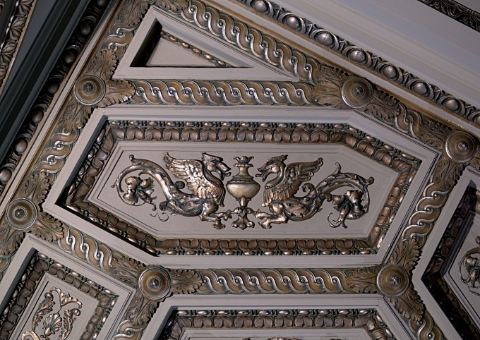 File Griffins In A Coffered Ceiling At The Cultural Center Looks Stunning