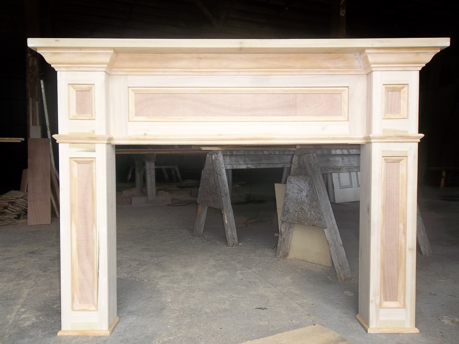 fireplace mantel kits before finishing on factory
