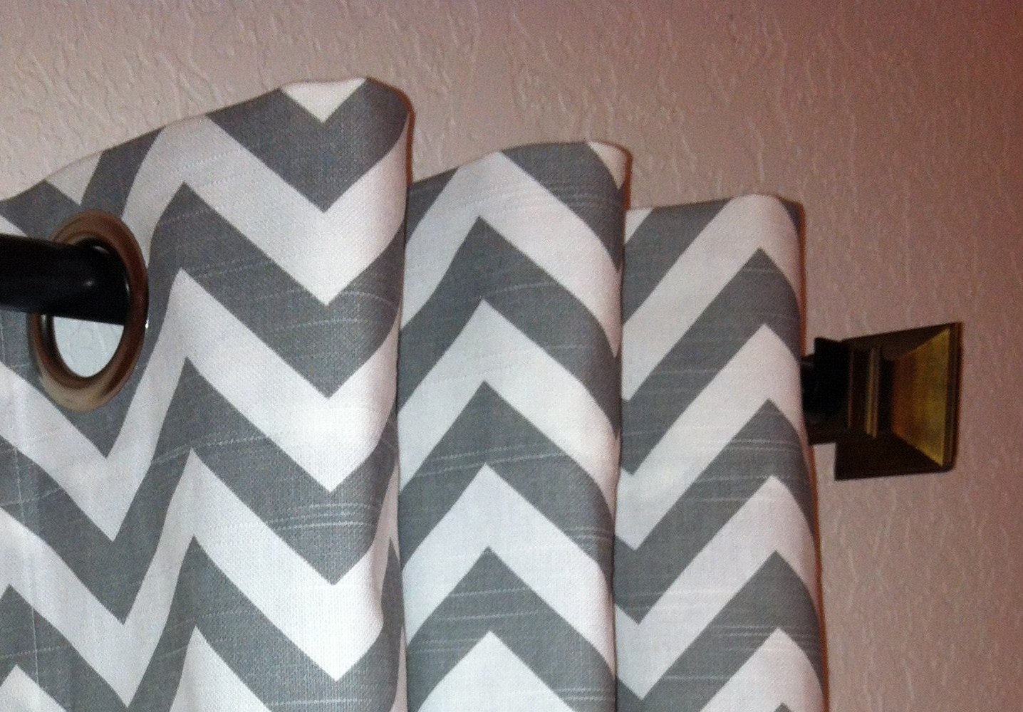 Grey Chevron Curtains for window for home interior ideas
