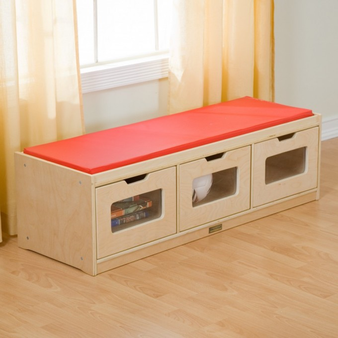 Ikea Toy Storage For Toys And Also As A Stool Before Window With Curtains