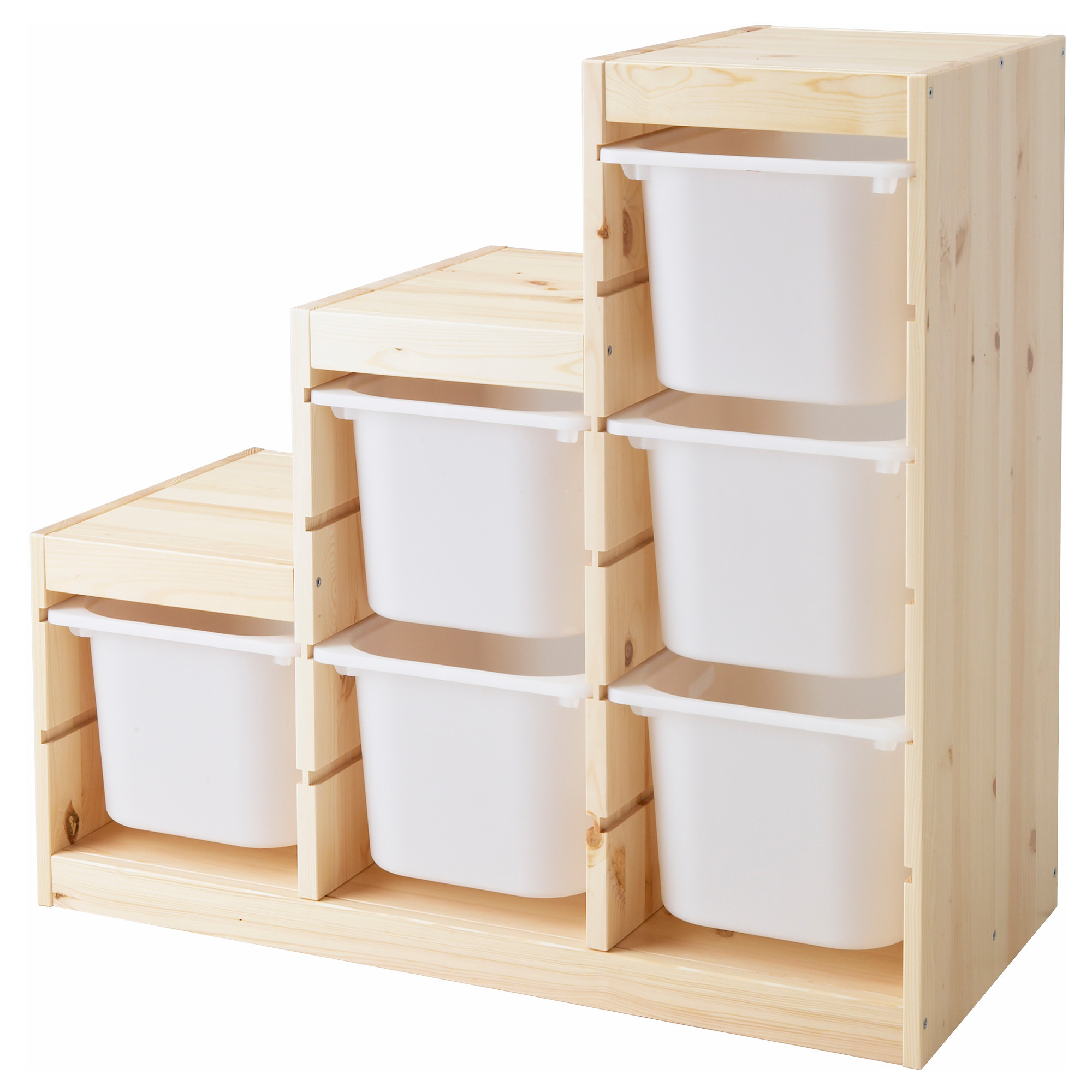 Ikea toy Storage with stairs shape plus six boxes