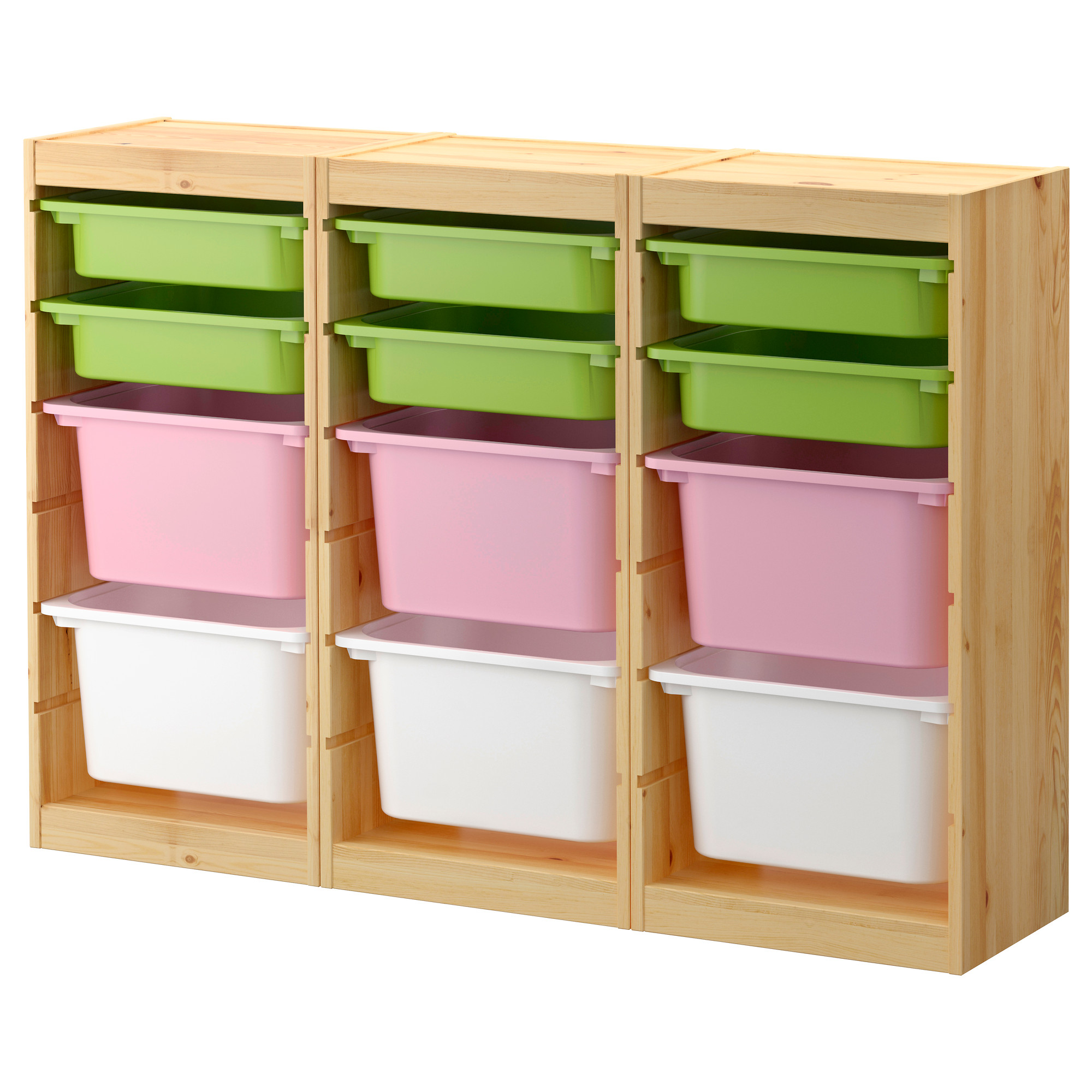 ikea Toy Storage with three color boxes