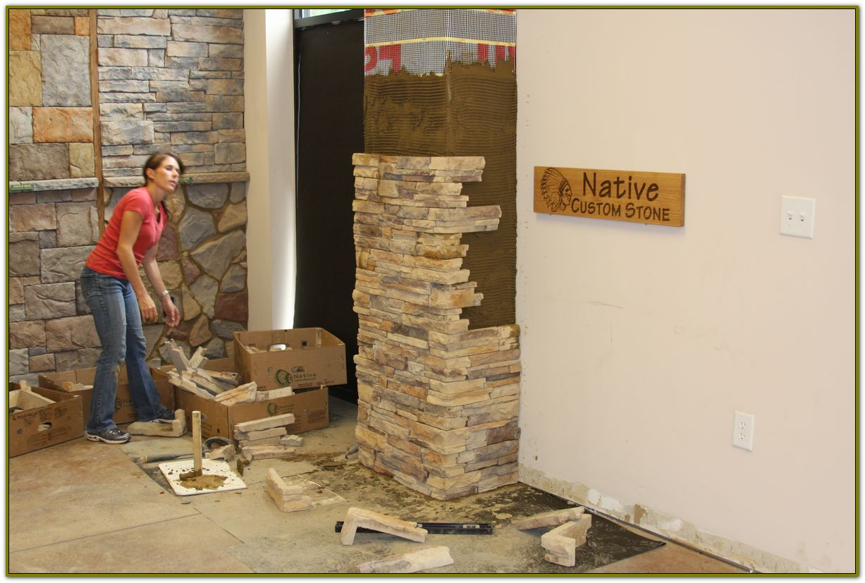installing Stone Veneer Panels for more beautiful wall