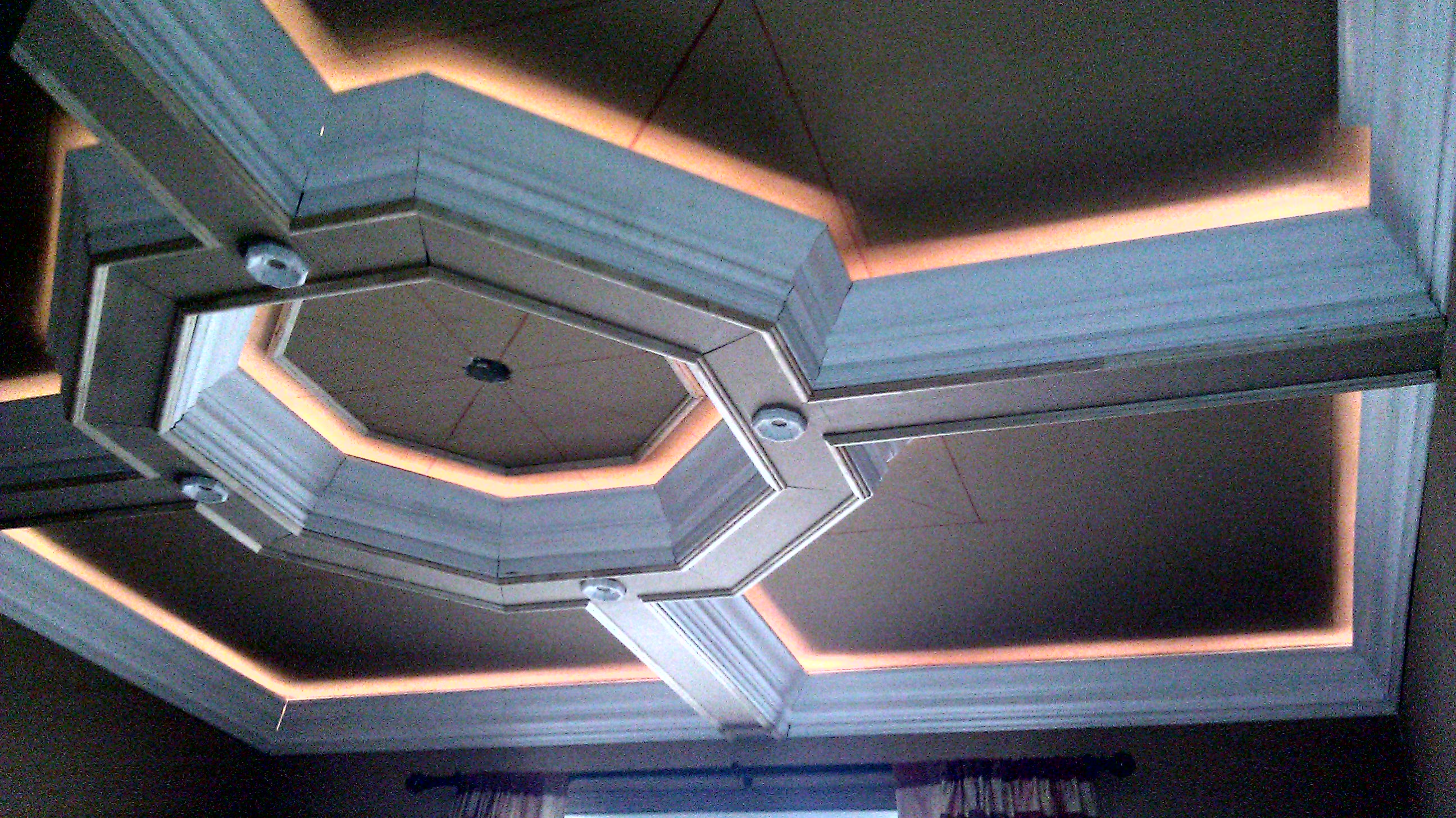 lighting coffered with octagon shapes on circle for smart ceiling ideas