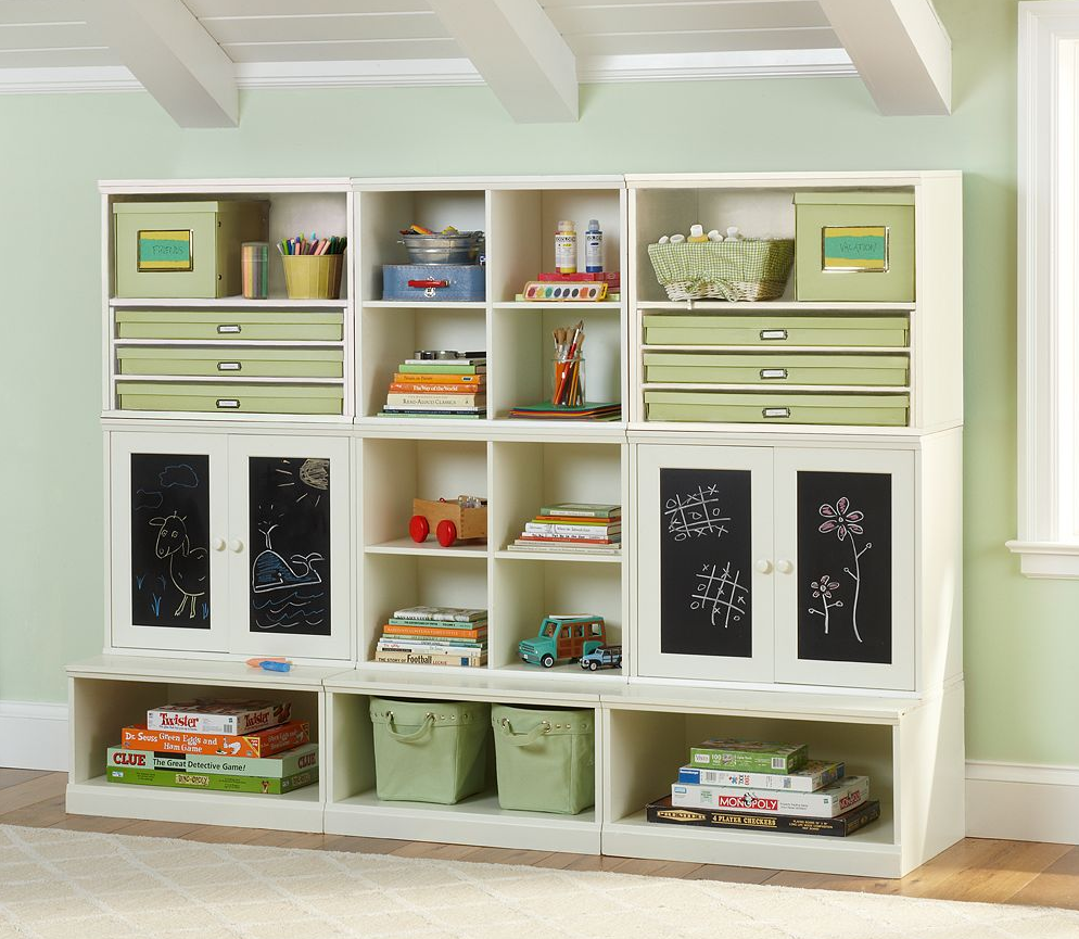 lovely ikea toy storage in olive green filled with kids stuffs with matching wall and wooden floor for lovable kids room