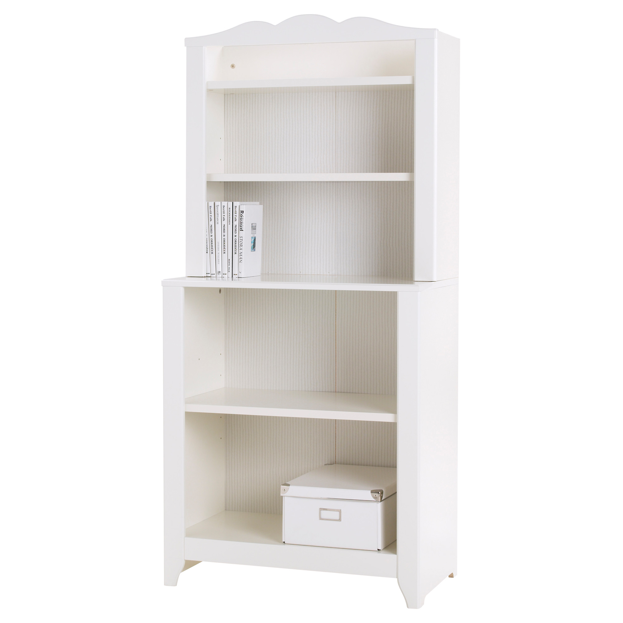lovely ikea toy storage in white filled with white books and white box
