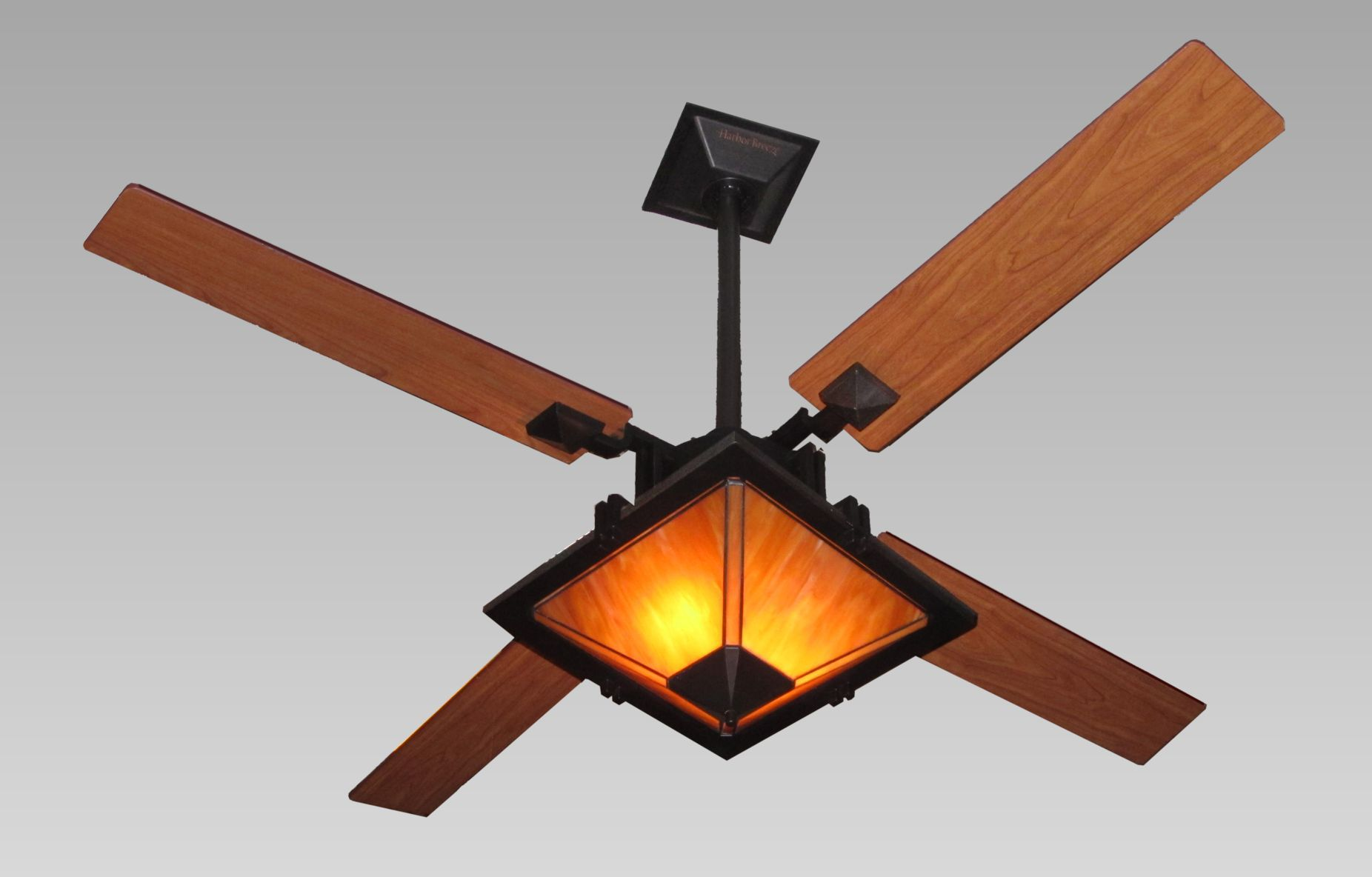 Lowes Ceiling Fans With Black Stick Holder And Single Elegant Lamp
