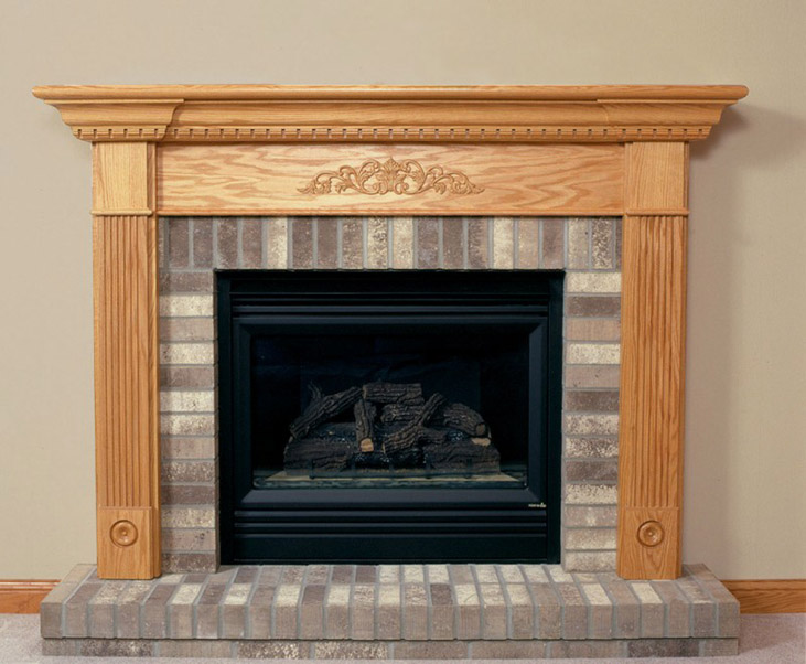 luxury glass fireplace Mantel Kits with wheat wall