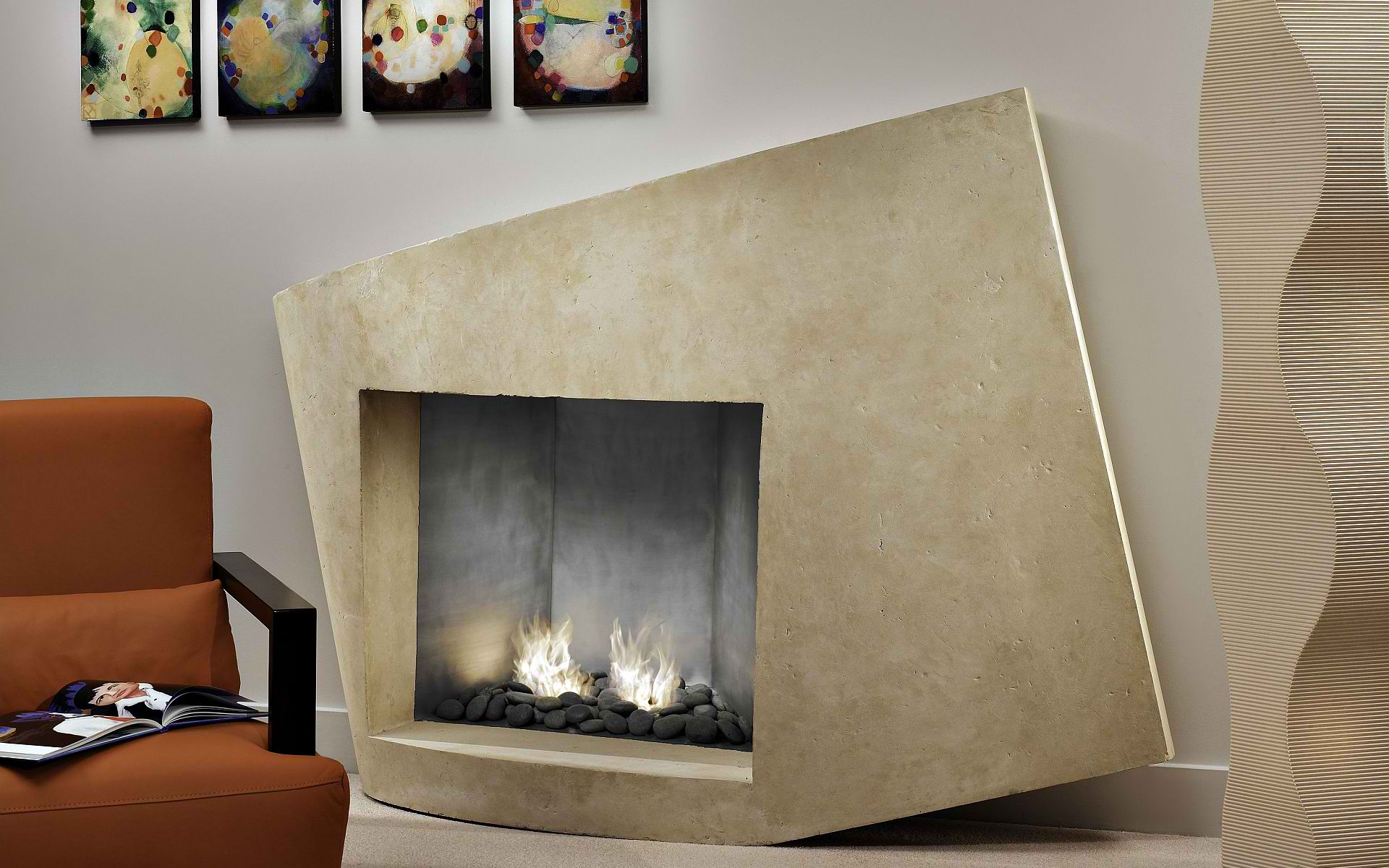 Modern Fireplace Mantel kits with pictures above for modern decor ideas