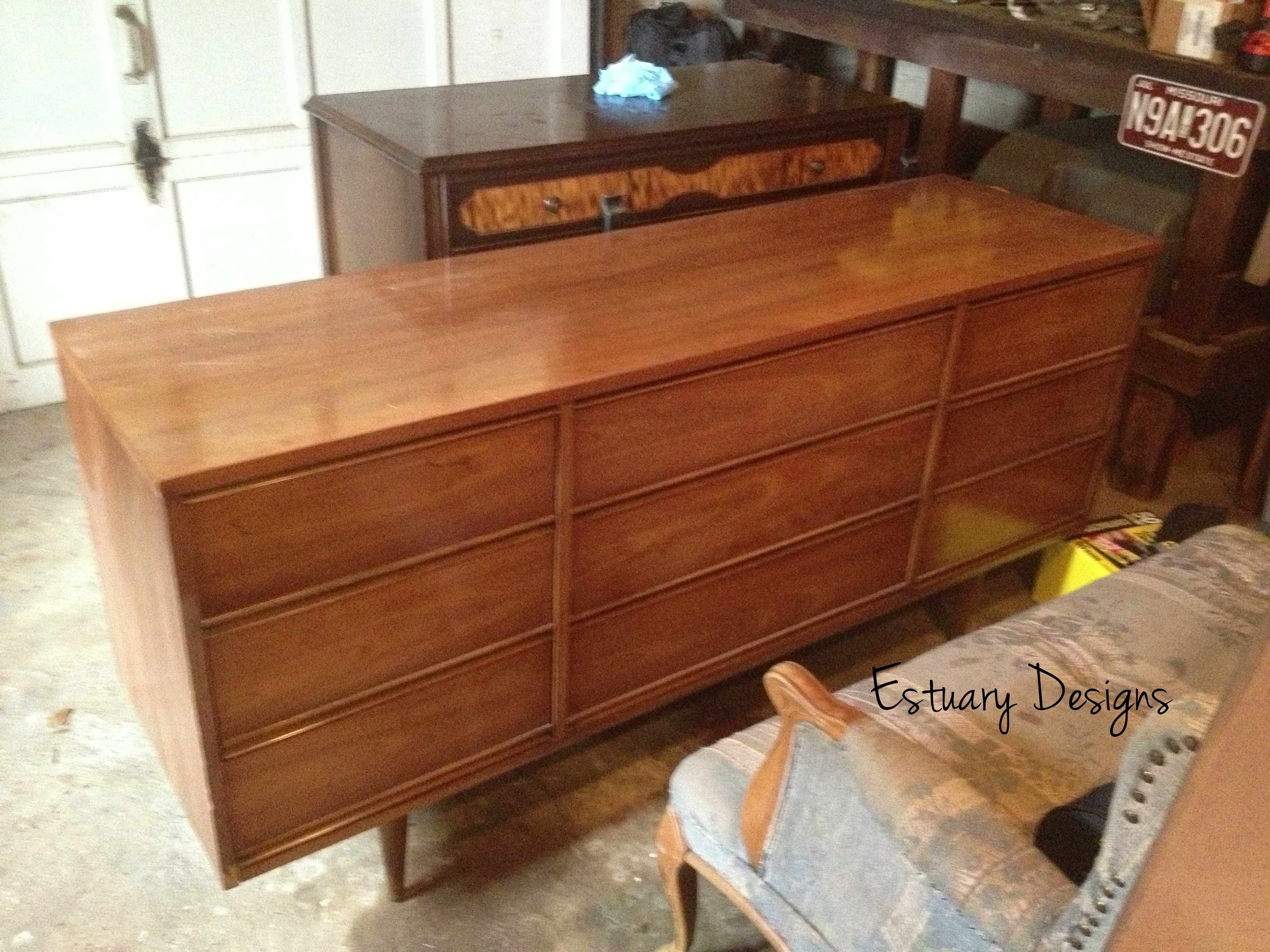 Furniture Mid Century Dresser Beside Desk And Study With Wooden