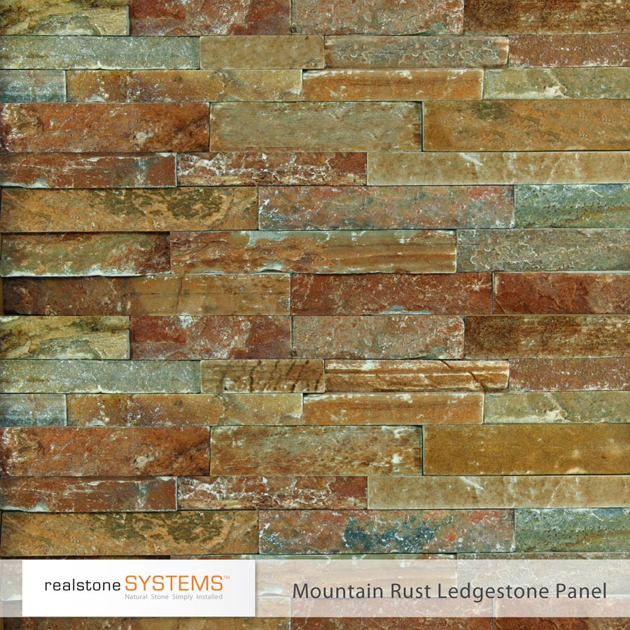Mountain Rust Ledge stone Veneer panels for wall ideas