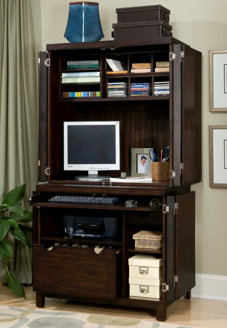 Office Chairs Wooden Storage Computer Armoire Open Furniture