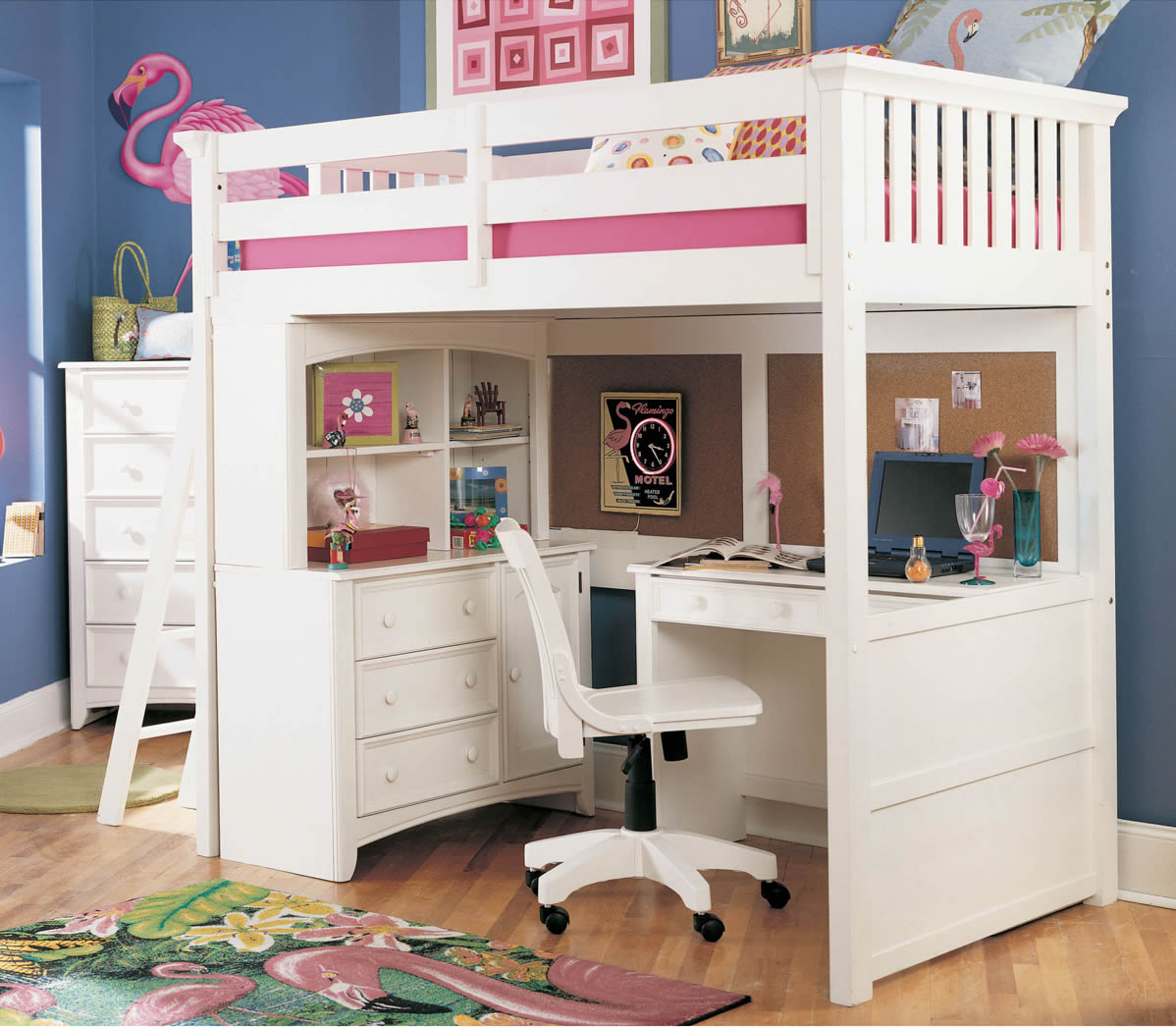 Outstanding Lea Getaway Loft Bed for teens With Matching Furniture