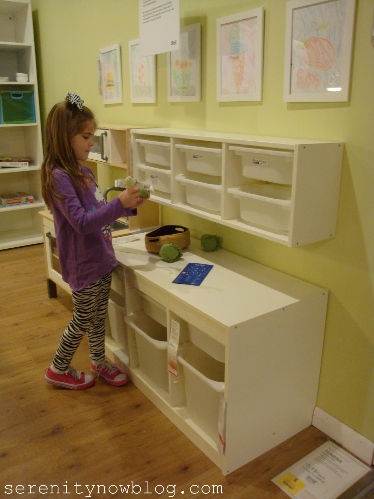 Playroom For Kids With Ikea Toy Storage On Wall And Another On Floor With  Wooden Floor
