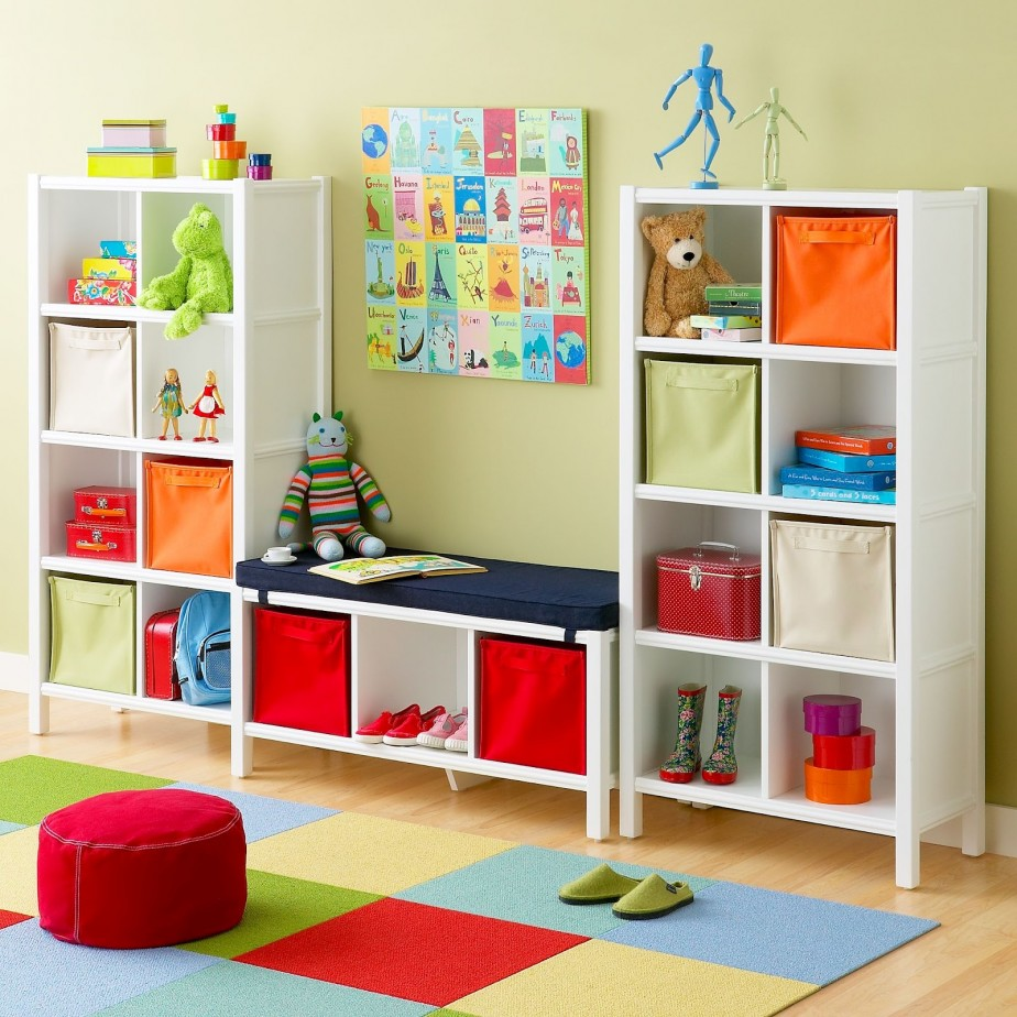 smart ikea toy storage filled with kids goods such as dolls shoes and others marched with olive wall and wooden floor plus multicolor carpet