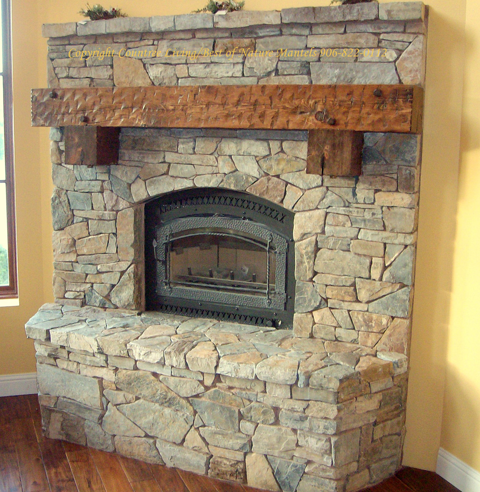 stone fireplaces with wood mantels. stones Fireplace mantel kits with yellow wall and wooden floor Ideas  Tips Amazing Mantel Kits For Heatwarming Home