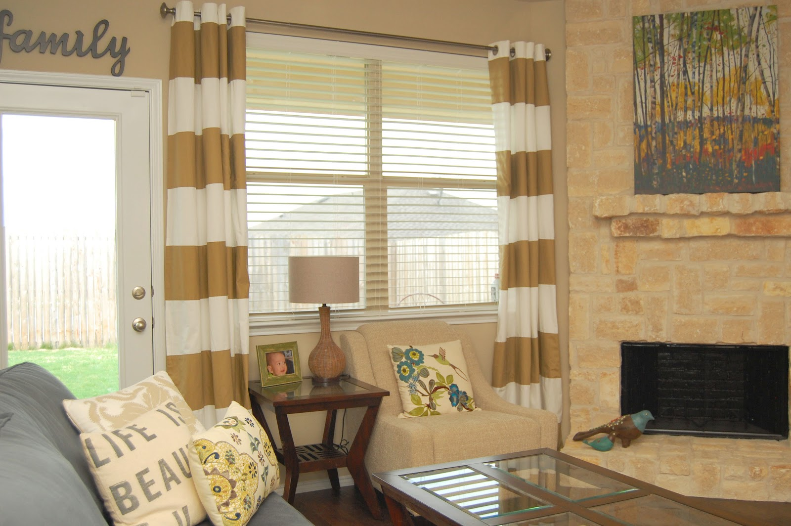 Style with Wisdom horizontal Striped Curtains for window with sofa for your living room inspiration
