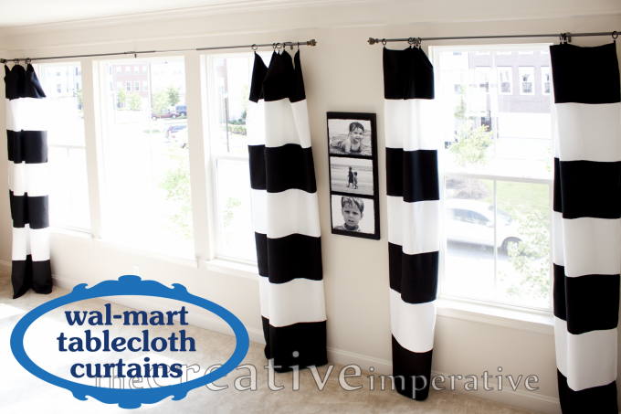 The Creative Imperative Black And White Horizontal Striped Curtains