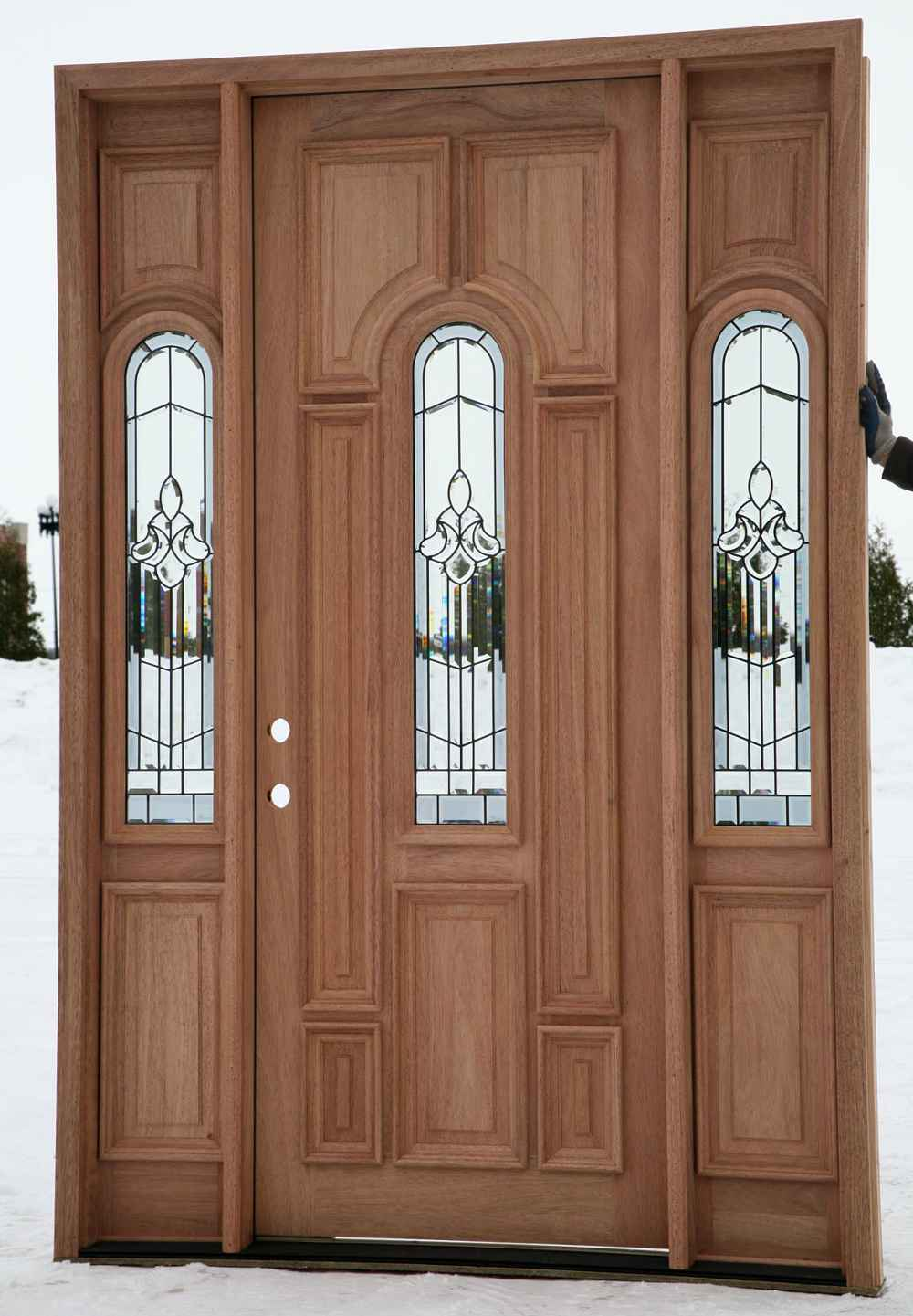 unfinished Entry Door With Sidelights