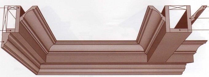 Wainscoting, Crown Molding, BaseBoard For Coffered Ceiling Ideas