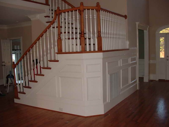 Wainscoting Ideas Under Landing Stairs For Home Design Ideas