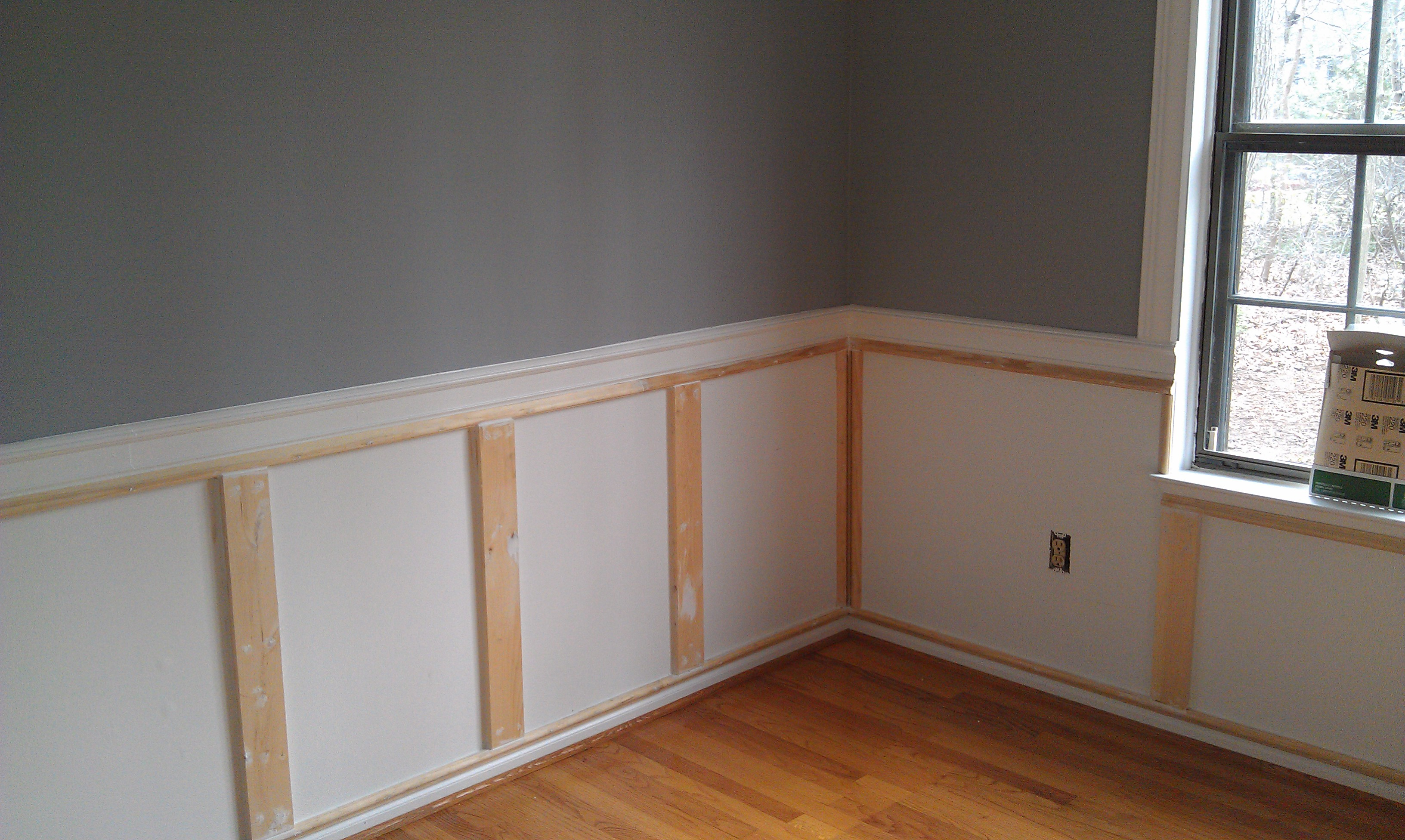 Wainscoting Ideas With Single Hung Window Plus Wooden Floor For Interior Design  Ideas
