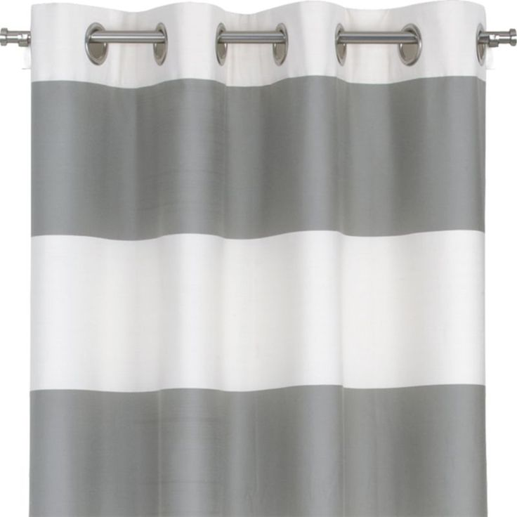 white and grey horizontal striped curtains for your home interior design ideas