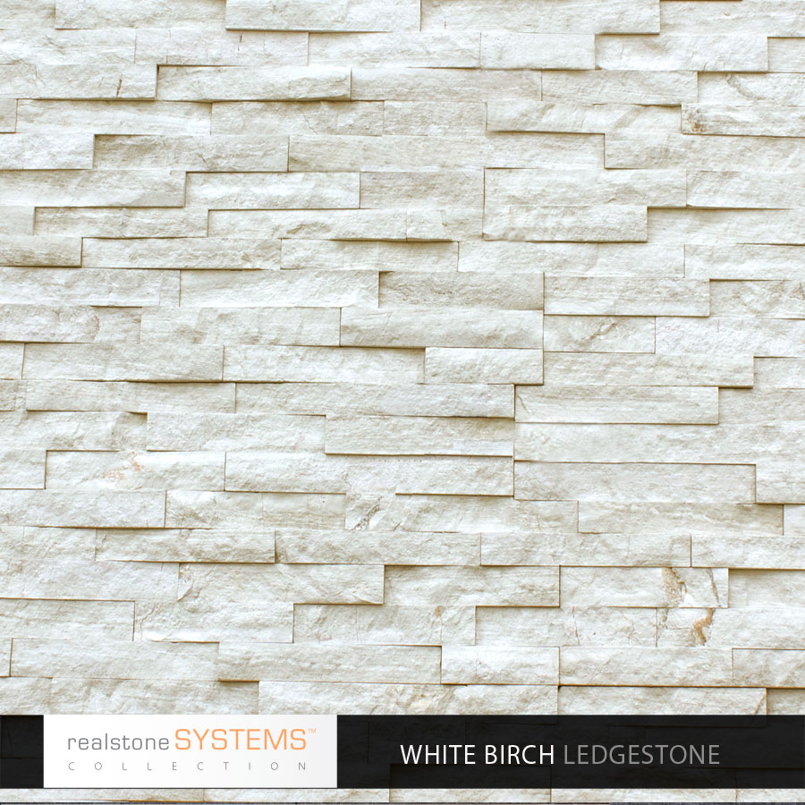 White Birch Ledge stone veneer panels for waal decor ideas